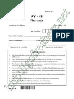 AP PGECET Pharmacy Question Paper & Answer Key Download