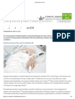 Physiotherapy in the ICU