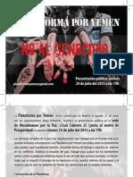 Acto de presentación de la Plataforma por Yemen en Madrid (24-07-2015)