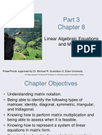 Linear Algebraic Equations and Matrices