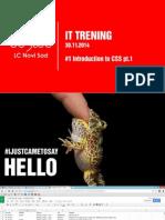 Presentation CSS JS HTML