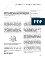 Drying of polymer powder in fluidized bed. Modelling of multizone dryer