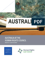 Australia at the Human Rights Council