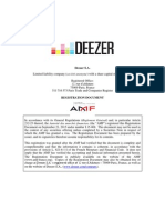 Deezer IPO-filing 22-Sep-2015