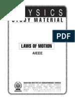 NARAYANA Study Material - Laws of Motion