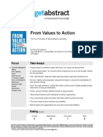 From Values to Action -Kraemer