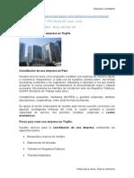 Constitucion de Empresa, Libros Contables, Ratios Financieros Aplicacion y Tributacion
