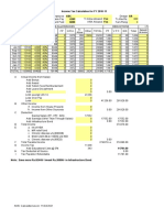 Income Tax Calculation for FY 2010-11 P.F.no