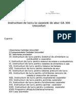 Instructiuni de lucru la cazanele de abur GA 300 Uniconfort 2011.doc