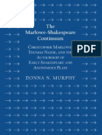 Donna N. Murphy-The Marlowe-Shakespeare Continuum_ Christopher Marlowe, Thomas Nashe, and the Authorship of Early Shakespeare and Anonymous Plays-Cambridge Scholars Publishing (2013).pdf
