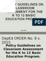 Policy guidelines on classroom assessment K12
