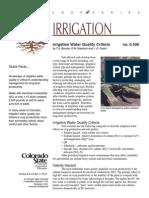 Irrigation Water Quality Criteria