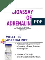 Bioassay of Adrenaline