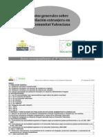 Datos Generales Sobre Poblacion Extranjera 3 Trimestre 2012