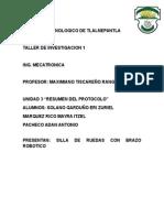 Documentacion Sobre Proyecto de Silla de Ruedas Con Brazo Robotico