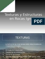 Texturas y Estructuras en Rocas Igneas