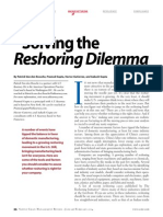 Solving the Reshoring Dilemma