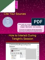 cite your sources - la2 and la 3