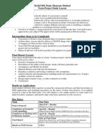 2012 - MAK336E - Project Study Layout