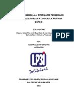 Sistem Pengendalian Intern Atas Persediaan Barang Dagang Pada PT Indopack Pratama