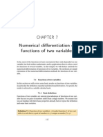 Numerical differentiation of functions of two variables