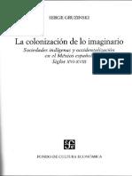 La Cristianización de Lo Imaginario - Serge Gruzinski