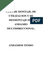 Plan de Montaje Utilizacion y Desmontaje Multidireccional