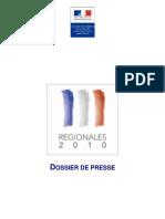 les élections régionales 14 et 21 mars 2010 - dossier de presse