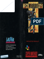 MechWarrior 3050 SNES Manual