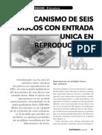 Mecanismo de Seis Discos Con Entrada Única en Reproductores de CD's