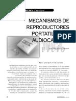 Mecanismos de Reproductores Portátiles de Audiocasetes