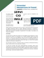 Monografia Sobre El Servicio Ingles