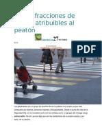 Diez Infracciones de Tráfico Atribuibles Al Peatón