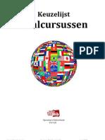 Keuzelijst taalcursussen