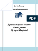 Effectiveness of Online Education Services Provided by Digital Bangladesh