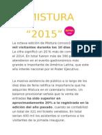"""MISTURA 2015"""