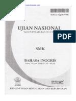 Naskah Soal UN Bahasa Inggris SMK 2014 Paket 1