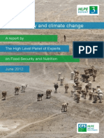 Food security and climate change report