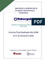 Auditados 2008 osinergmin