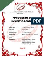 Proyecto de Investigación Ps. Experimental