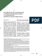 El Arbitraje en El Régimen de Contrataciones Del Estado y Las Recientes Modificaciones Normativas