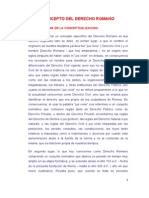 Conceptualización Del Derecho Romano