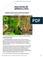 LCC en La Biblioteca Secreta Del Vaticano Con Reptilianos y Jesús Alien