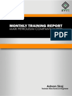 Monthly Training Report Drilling June-july 2014