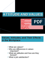 Attitude and Values BY DR. TANUSHREE CHAKRABORTY