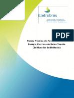 Norma Tecnica NDEE02 - Fornecimento de Energia Eletrica Em Baixa Tensao - Edificacoes Individuais