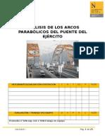 Arcos parabólicos del puente del Ejercito