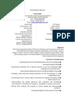 resume of suhas karadkhedkar civil engineer over 20 years