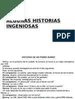 ALGUNAS HISTORIAS INGENIOSAS