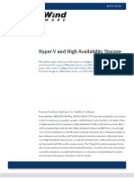 Hyper v and High Availability Shared Storage